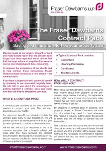 Conveyancing Contract Pack